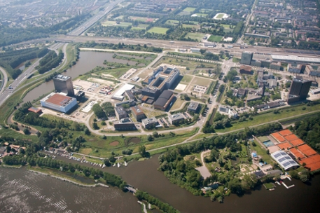 Amsterdam Science Park seen from the sky (2017)