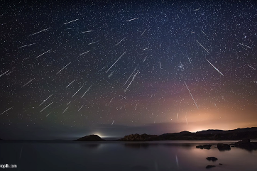 Composite image of the Geminids, copyright Antoni Cladera